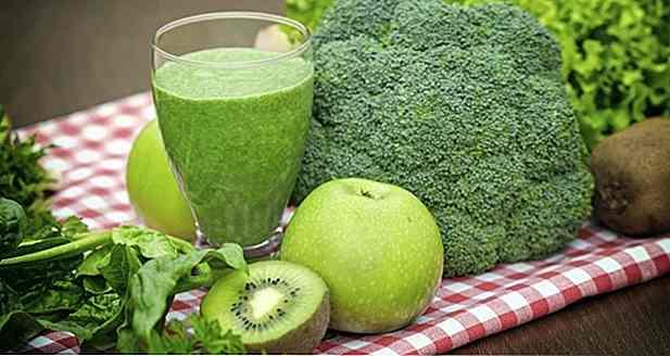 Grüner Saft zur Gewichtsreduktion dient der